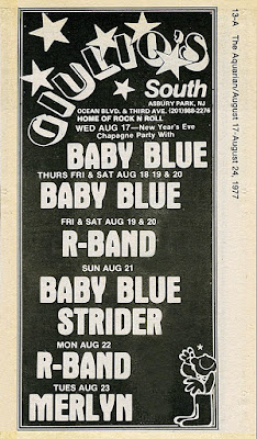 Giulio's South club band line up ad from The Aquarian August 1977
