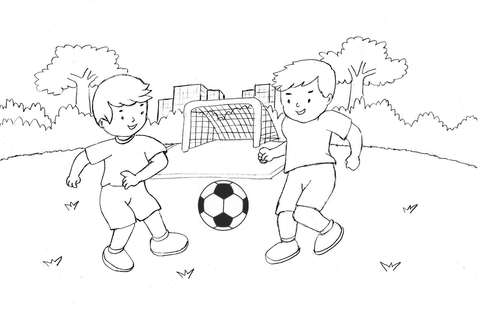 69 gambar animasi anak anak bermain bola cikimm