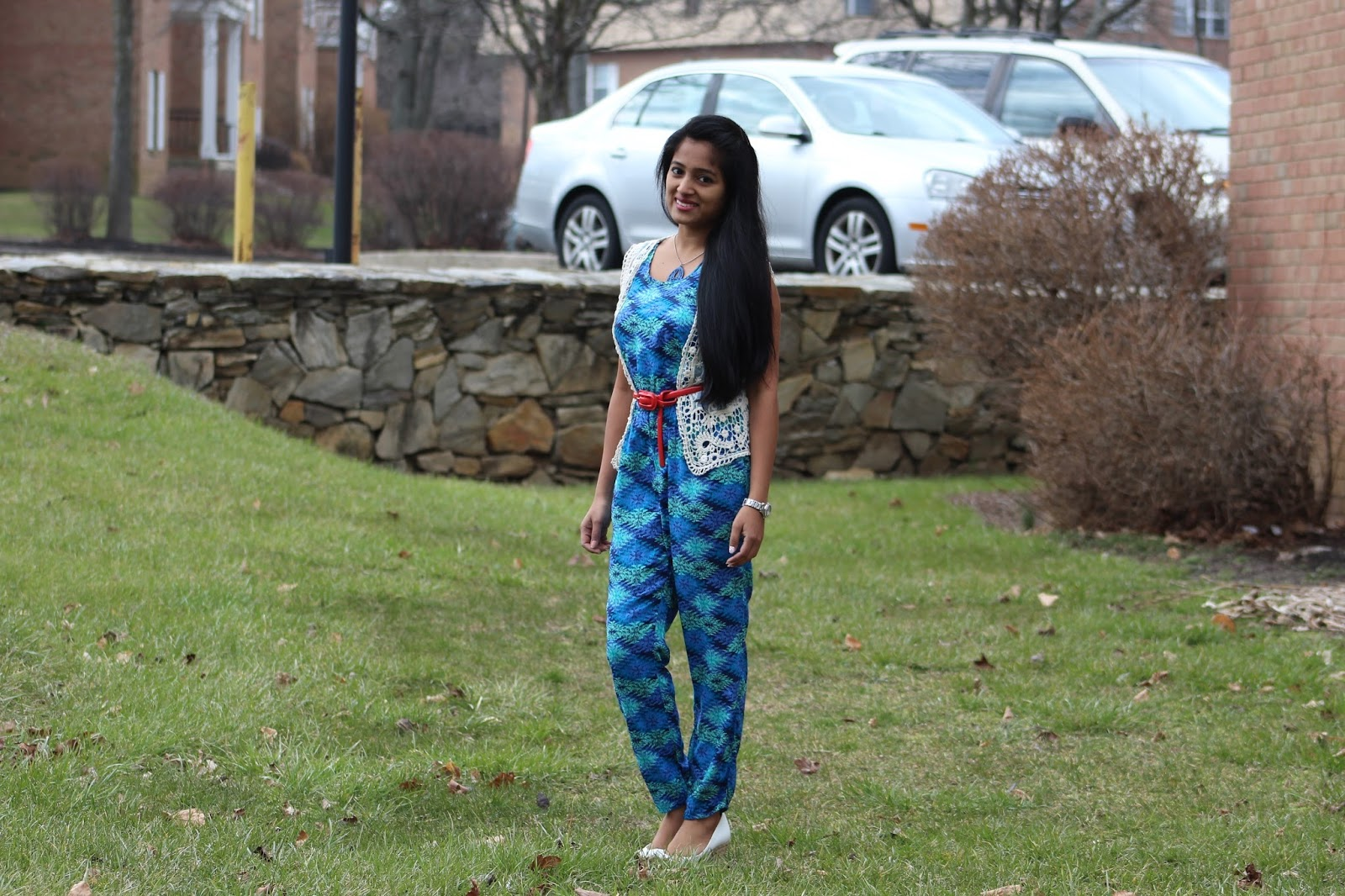 how to wear a jumpsuit in different ways, indian fashion blogger, blue jumpsuit, printed jumpsuit, styling a jumpsuit