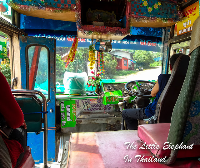 The Orange Bus in Nan - Thailand