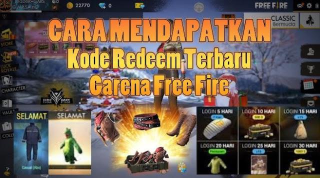 Cara Mendapatkan Kode Redeem Free Fire 2019