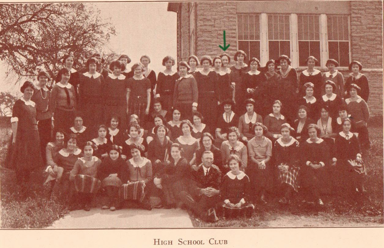 High School Club 1923 State Normal School at Harrisonburg, VA  http://jollettetc.blogspot.com