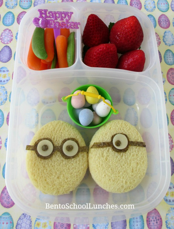 Minion Easter Eggs Bento