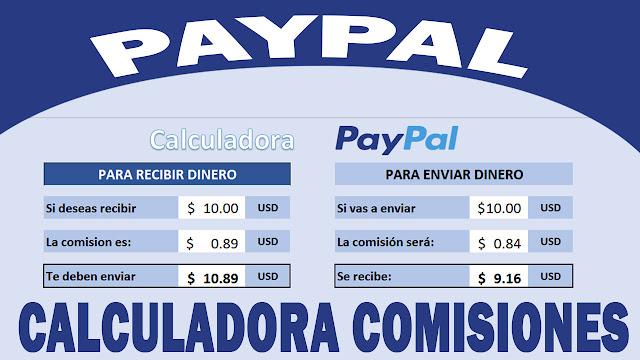 Calculadora de comisiones PayPal - Envios y Recepción