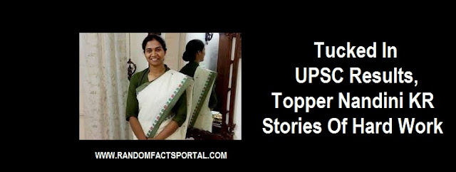 Tucked In UPSC Results,Topper Nandini KR, Stories Of Hard Work, Success In Face Of Adversity