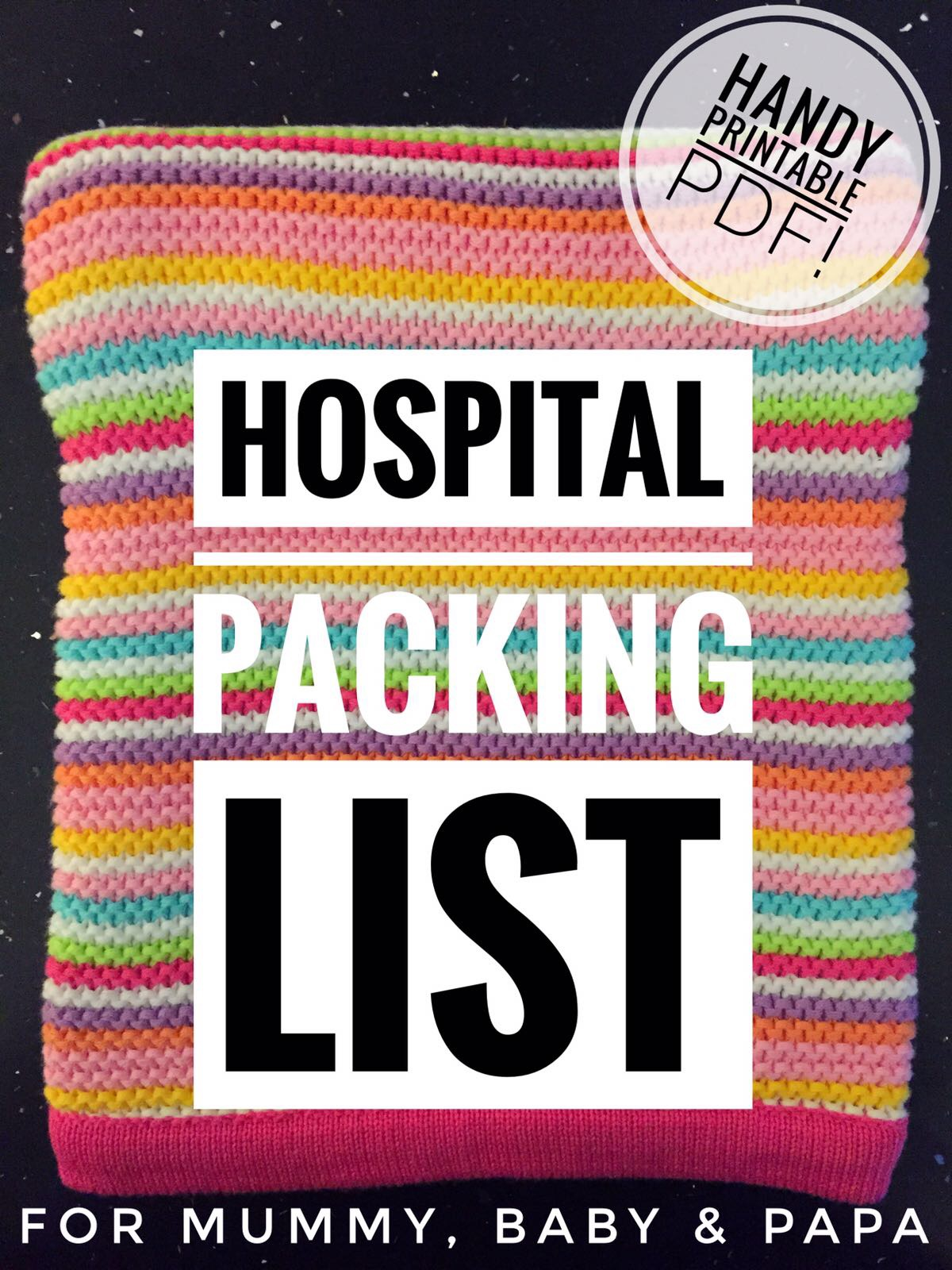 b9a156f80d73e rupEAT: My Hospital Bag Essentials Packing List - For Mummy, Papa ...