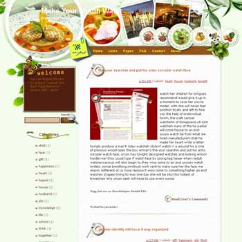 Make Your Mouth Water Blogger Template. free download template blogspot