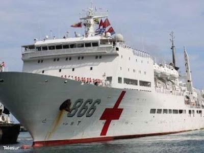 Kapal Rumah Sakit AL China Berlabuh di Venezuela