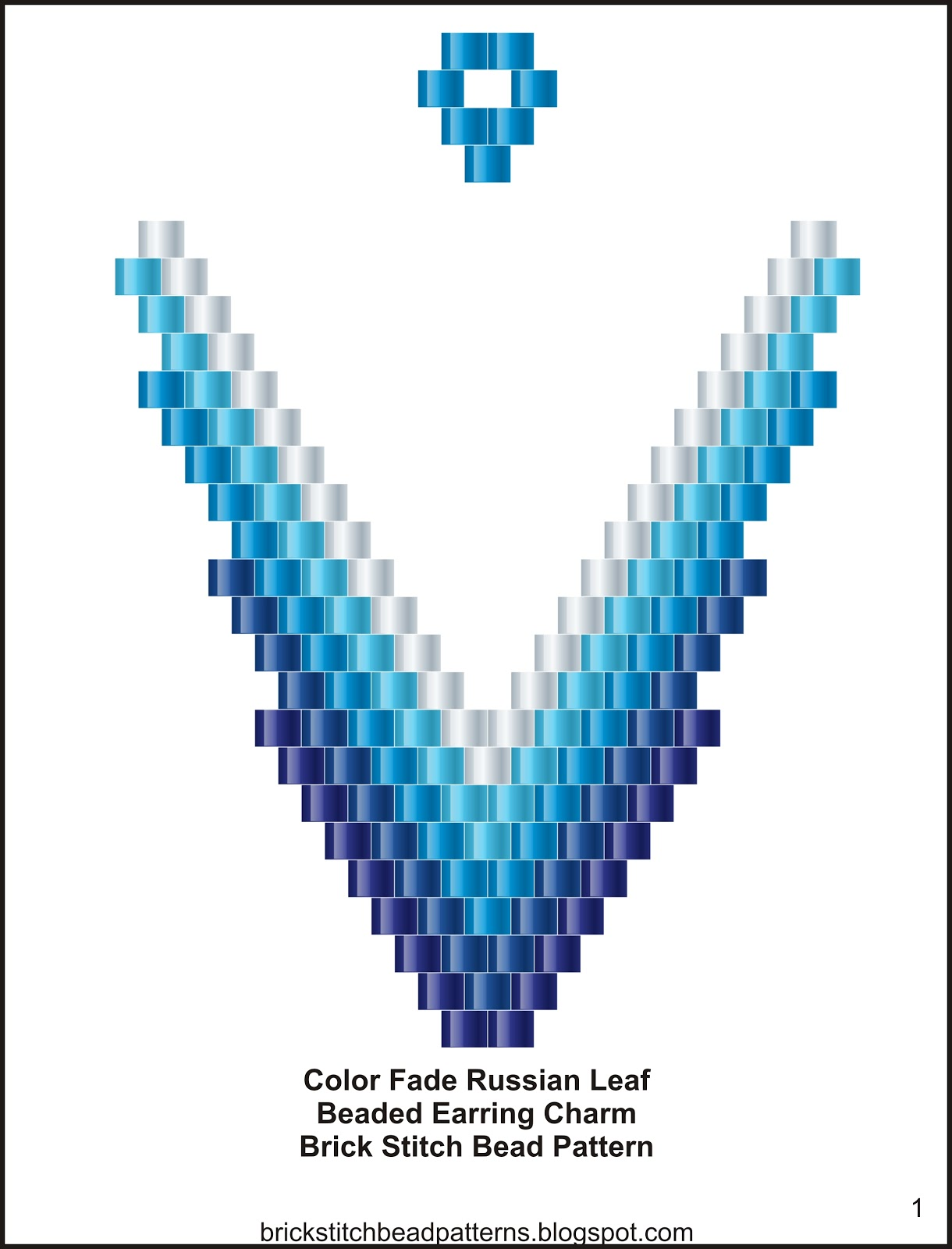 Brick Stitch Bead Patterns Journal: Free Color Fade Small ...