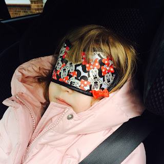 My top five most illustrious third child admissions  - Jane sleeping in the car