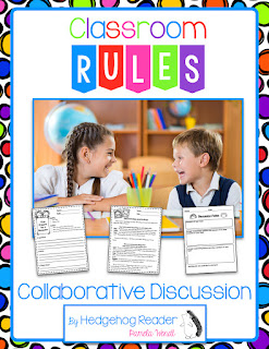 FREEBIE - Back to School Close Reading Passage + Printables + Collaborative Discussion Resource