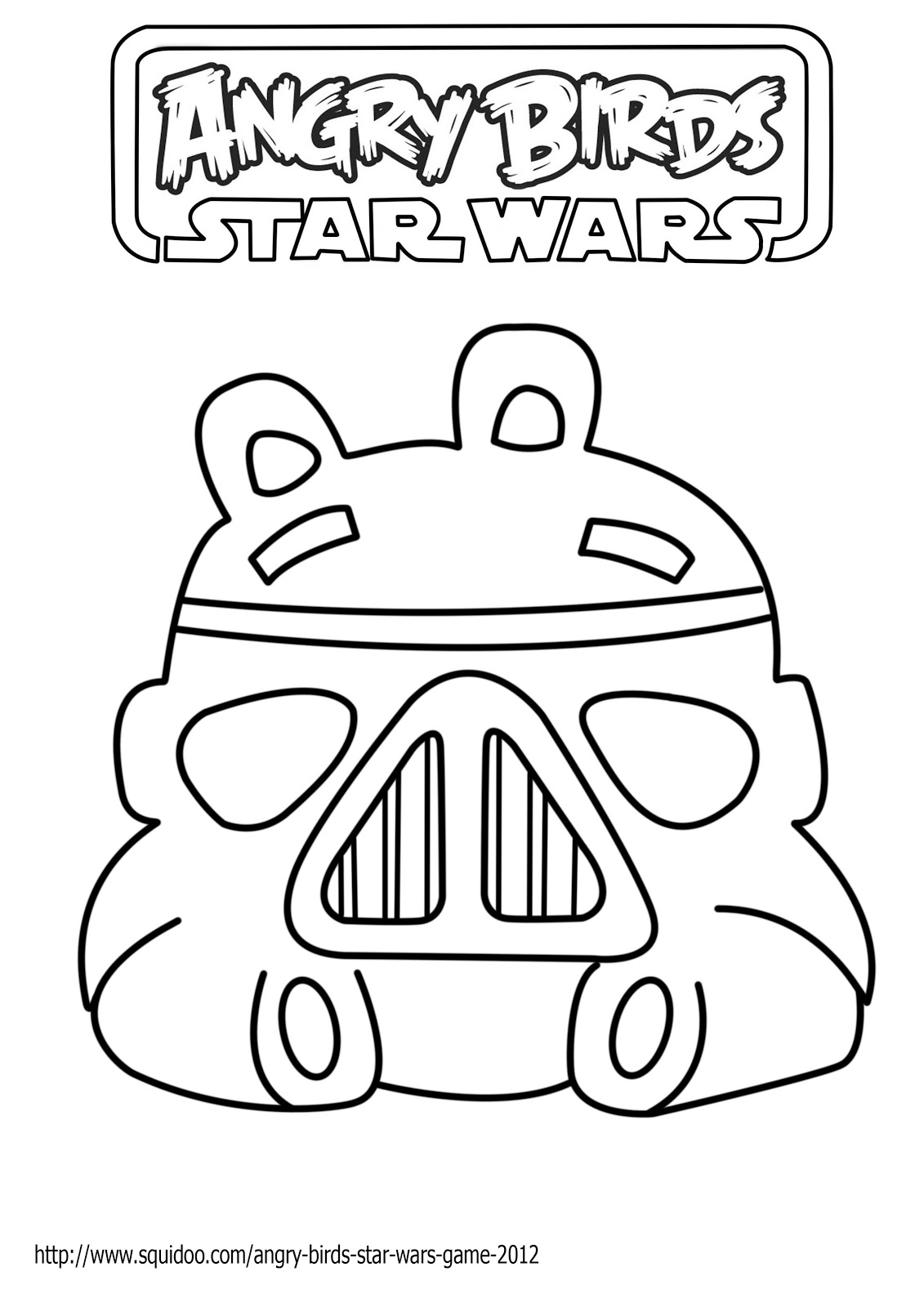 Dessins de star warsAngry Birds Star Wars Coloring Pages Darth Maul