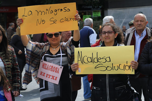 Protesta de la comunidad educativa de La Milagrosa