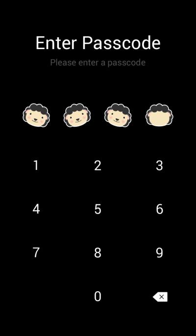 Simple cute Black sheep theme