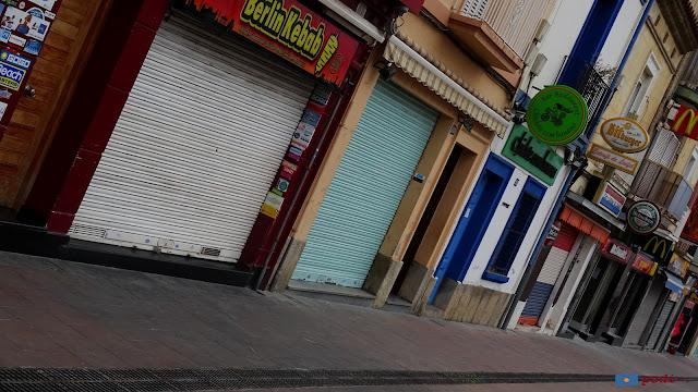 botigues tancades a la temporada baixa a Calella. Riera de Capaspre