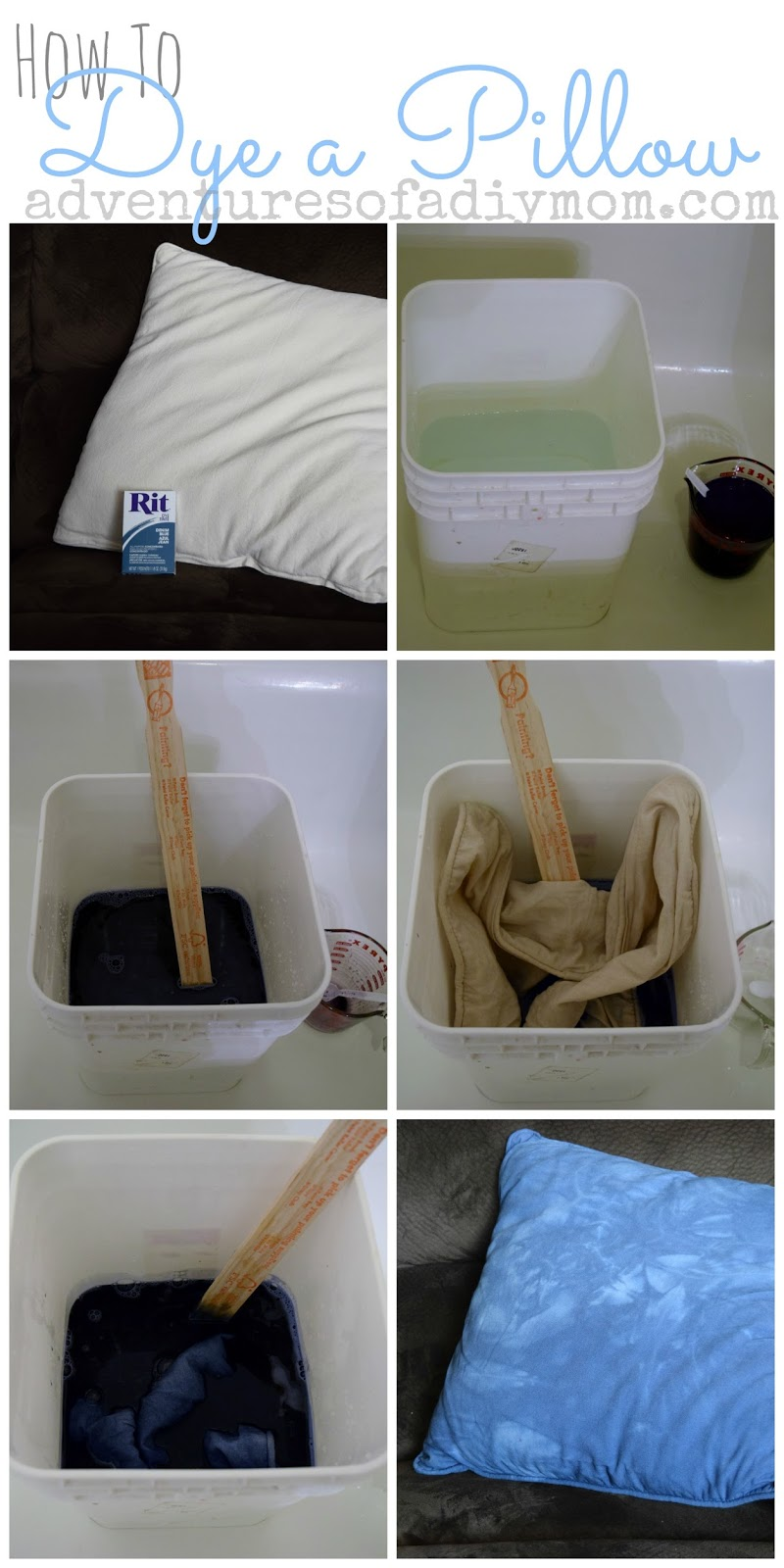 How to Dye a pillow - step by step