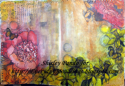 Floral Collage Art Journal Page