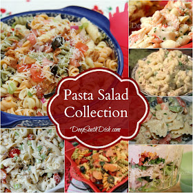 A collection of pasta salad recipes from Deep South Dish blog.
