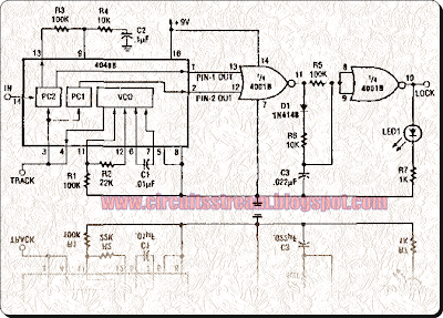 Precision Narrow Band Tone Switch Circuit Diagram
