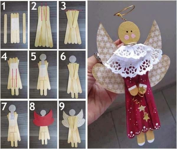 Ideas & Products: Christmas Popsicle Stick Art
