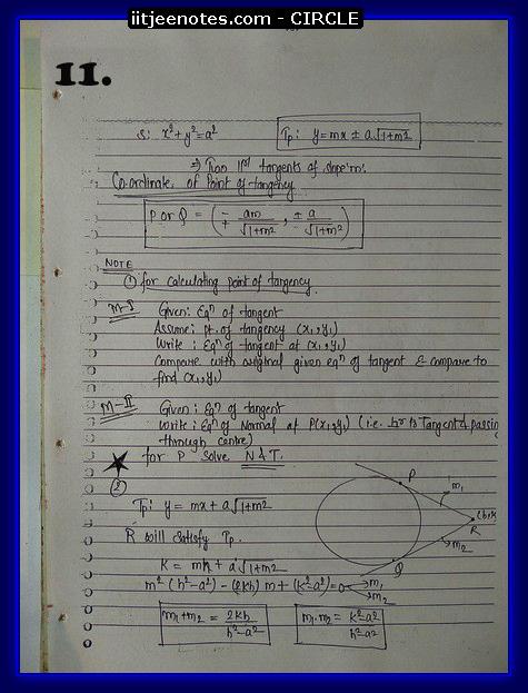 circle notes cbse1