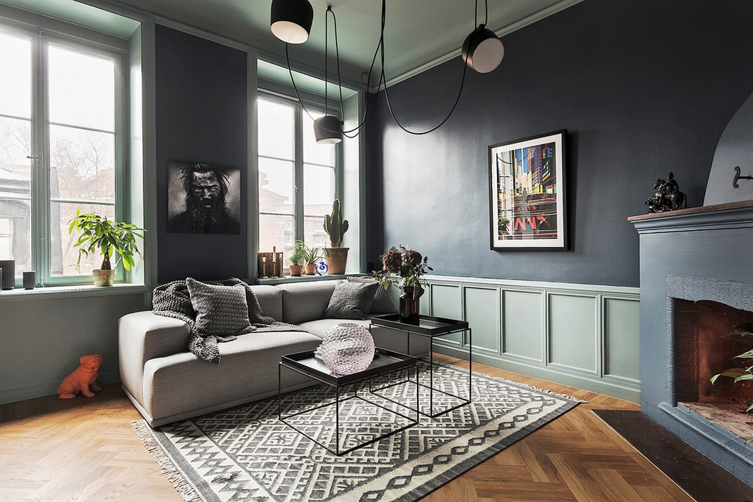 d couvrir l 39 endroit du d cor avec du bleu nuit. Black Bedroom Furniture Sets. Home Design Ideas