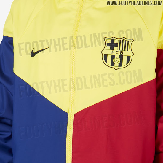Stunning 3 Color Nike Barcelona 2020 Windbreaker Leaked Preview Of 20 21 Kit Design Footy Headlines