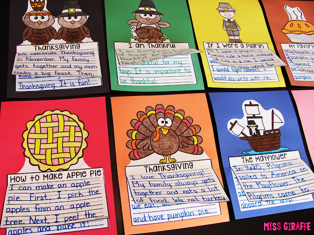 November writing crafts perfect for Thanksgiving writing