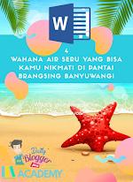 Beli Artikel: 4 Wahana Air Seru Yang Bisa Kamu Nikmati Di Pantai Brangsing Banyuwangi
