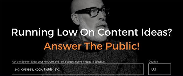 Answer The Public - Công cụ phân tích từ khóa vi diệu