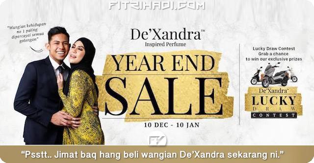 (Promosi) Jualan Murah Wangian De'Xandra Sempena Year End Sale
