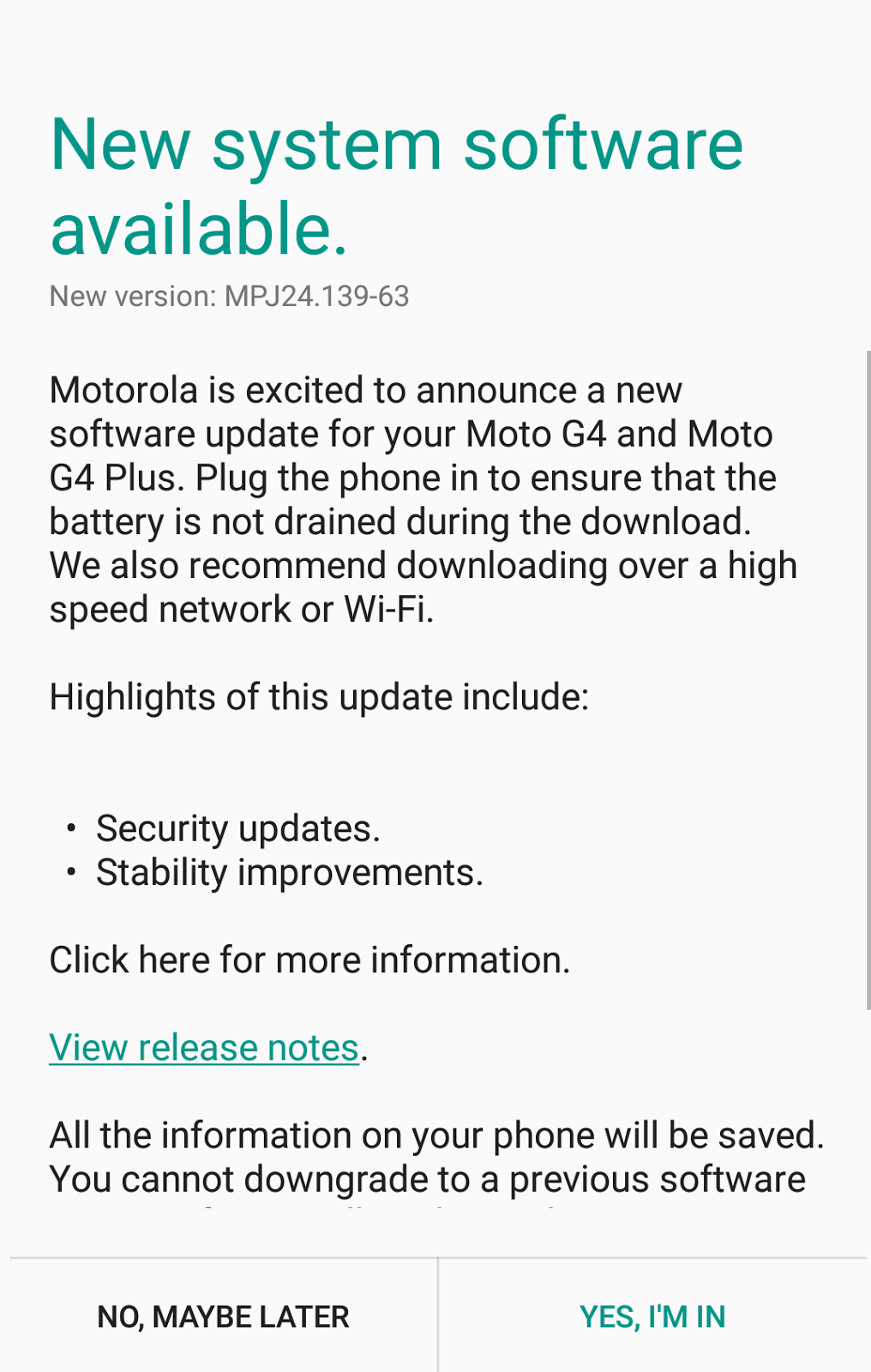Motorola Pushes Maintenance Update In India With July