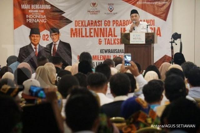 Relawan Milenial di Kuala Lumpur Deklarasi Dukung Prabowo-Sandi