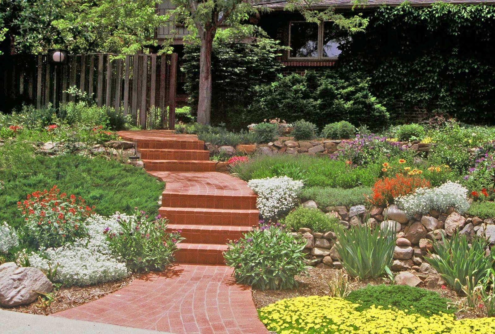 Triyae Com = Terraced Backyard Slope Various Design Inspiration