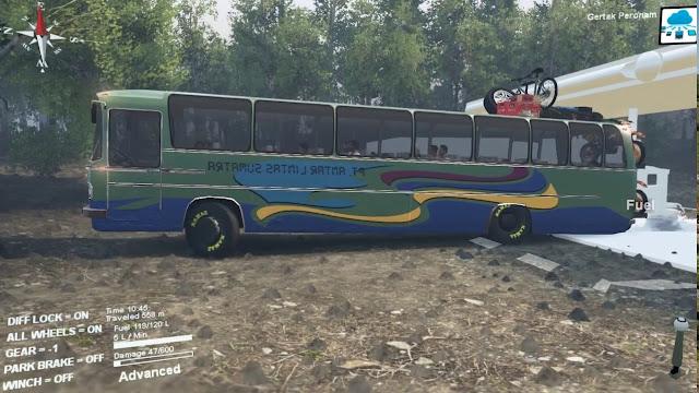 Mod Bus ALS (Antar Lintas Sumatra) Spintires