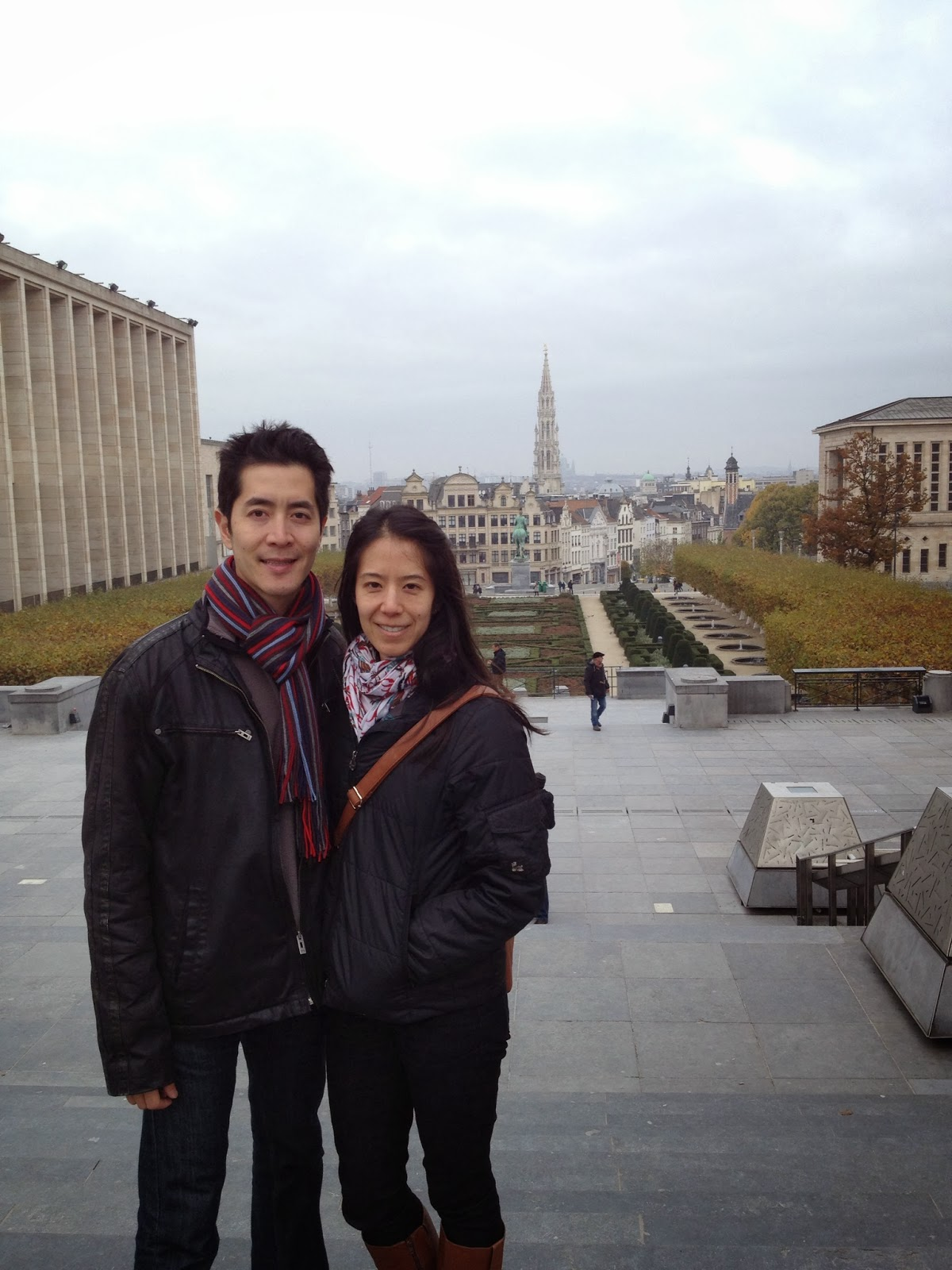 Brussels - Posing with the city center in the background