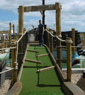 Adventure Golf course at Funder Park in Dawlish Warren, Devon