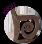 assises en carton recyclé : chaises, fauteuil, pouf, canapé, tabouret, banc.... Meuble artisanal entièrement fait main par  © CARTONS DUDULLE.