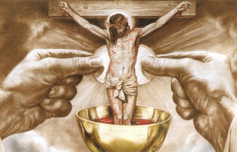 Plus de 100 catholiques, dont 7 prêtres, prient devant le lieu où se déroulait une «messe noire» ! Messe-sacrifice-christ