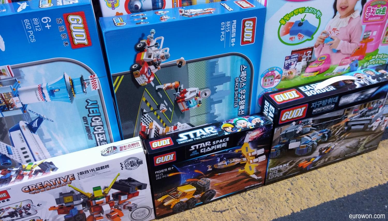 Cajas de Legos chinos falsos