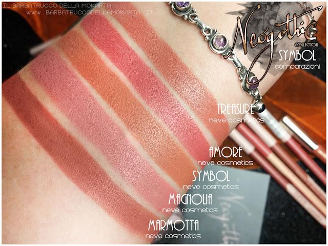 symbol biopastello labbra comparazioni neogothic collection neve cosmetics