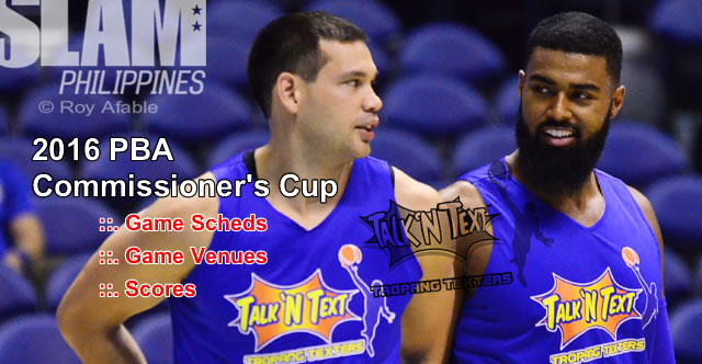 List of Talk N Text Tropang Texters 11 Games Elimination Round 2016 PBA Commissioner's Cup