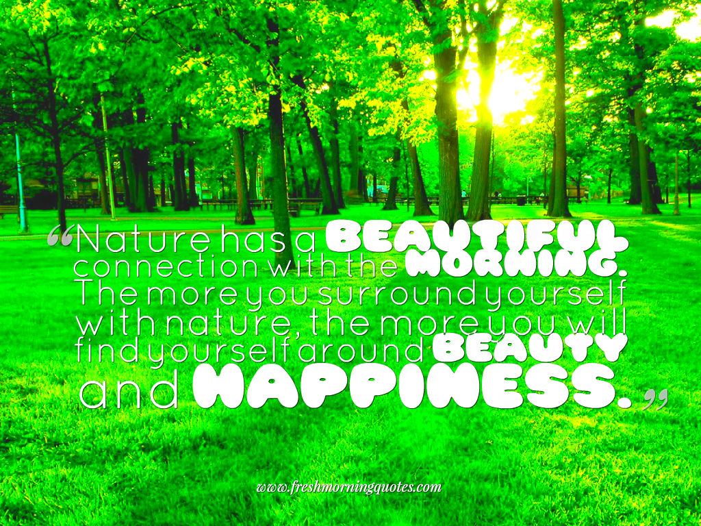 good morning nature image with quotes