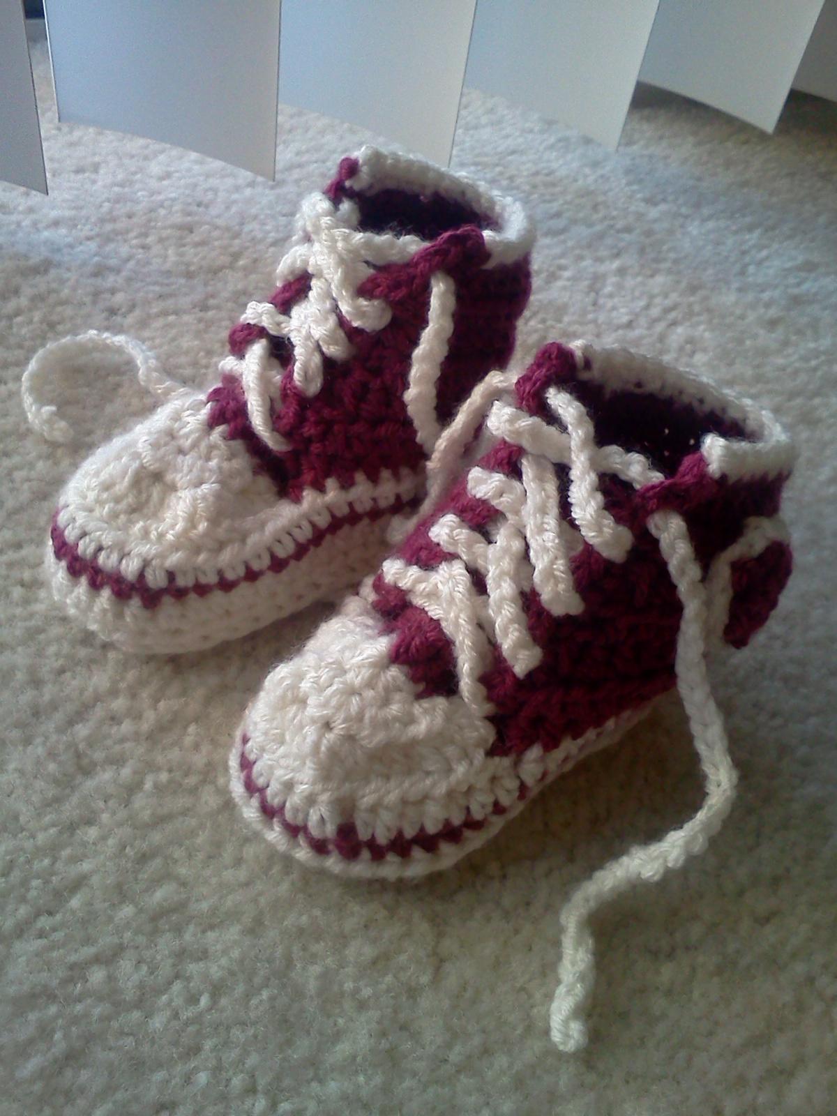 Toddler Converse Booties Crochet Pattern