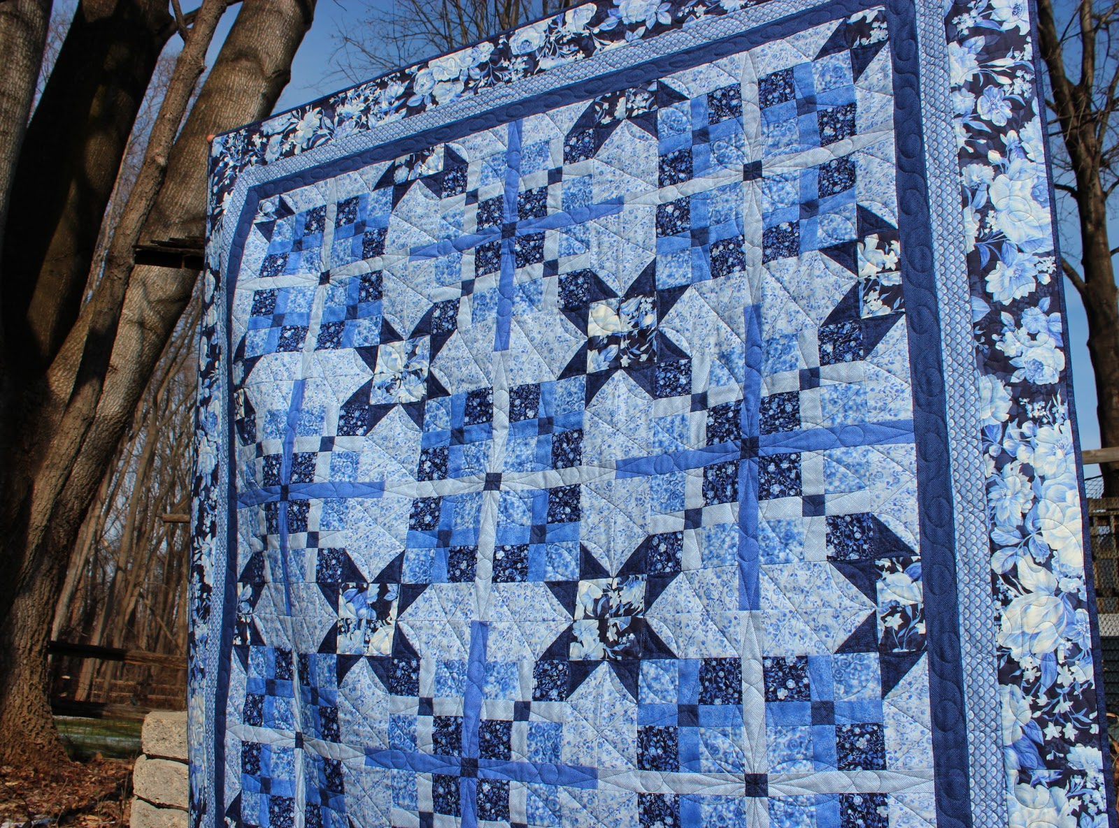 Spring Water Designs My Cool Blue Quilt Is In Fons Porters Love