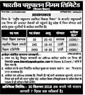 BPNL Recruitment 2016