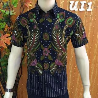 Model Baju Kemeja Pria Batik Kombinasi