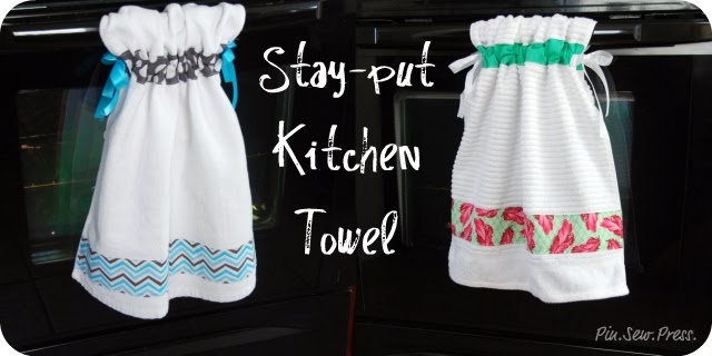 life in my kitchenand beyond: homemade idea: hanging kitchen towels