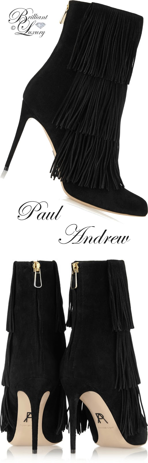 Brilliant Luxury ♦ Paul Andrew Taos Fringed Suede Ankle Boots