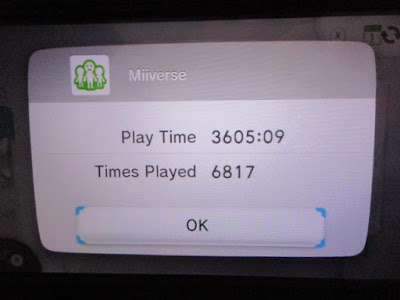 Miiverse Nintendo Wii U Activity Log Play Time Times Played PrinceOfKoopas